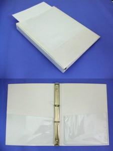 リングファイル バインダー PVCタイプ ポケット付
