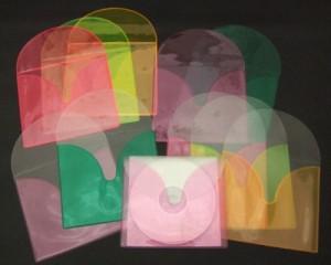 仕分けに便利「CD収納ビニールソフトケース(カラー) CD・DVDケース ビニル製品 オーダーメイド オリジナル ビニール工房 株式会社三共 岐阜県岐阜市 OEM PB