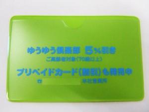 プリペイドカード 会員カード メンバーズカード ポイントカード ご利用案内書 カードケース ビニール オリジナル オーダーメイド