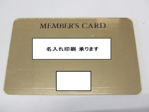 ヘアラインカード VIP会員カード メンバーズカード ビニール オーダーメイド 特注 pvc