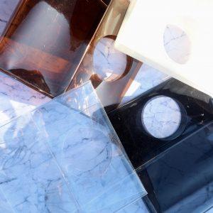 PVCスクエアハンドバッグ ビニール製品 オーダーメイド オリジナル ビニール工房 株式会社三共 岐阜県岐阜市 OEM PB